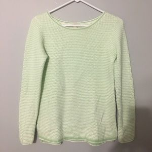 J.crew chevron stitch boatneck sweater